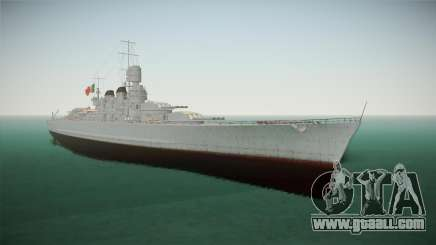 Littorio Class Battleship for GTA San Andreas