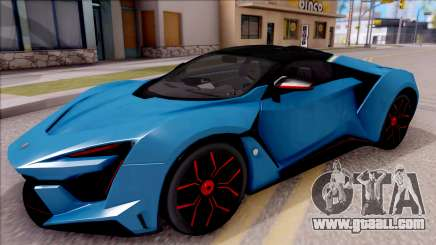 W Motors Fenyr SuperSport for GTA San Andreas