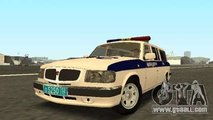 GAZ 310221 DPS Police for GTA San Andreas