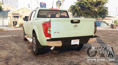 GTA 5 Nissan Frontier (D23) 2017 [replace] rear left side view