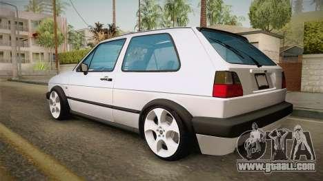 Volkswagen Golf MK2 2.0 TFSI Beta for GTA San Andreas left view