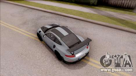Porsche 911 GT2 RS Weissach Package EU Plate for GTA San Andreas back view