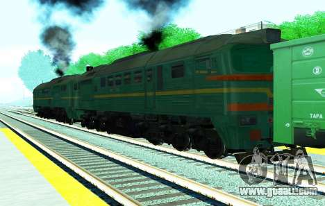 Freight locomotive 2M62 1184 for GTA San Andreas left view