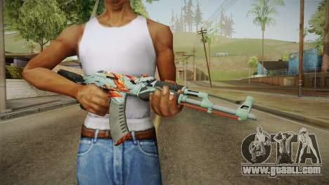 CS: GO AK-47 Aquamarine Revenge Skin for GTA San Andreas third screenshot