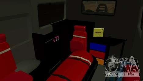 Fiat Ducato Ambulance for GTA San Andreas back view