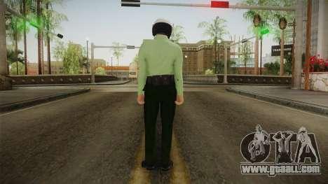 Iranian Cop Biker Skin for GTA San Andreas third screenshot