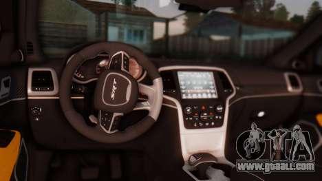 Jeep Grand Cherokee SRT 8 for GTA San Andreas inner view