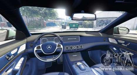 GTA 5 Mercedes-Benz S63 yellow brake caliper [add-on] rear right side view