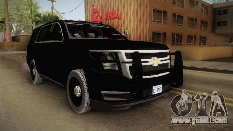 Chevrolet Tahoe 2015 Police for GTA San Andreas right view