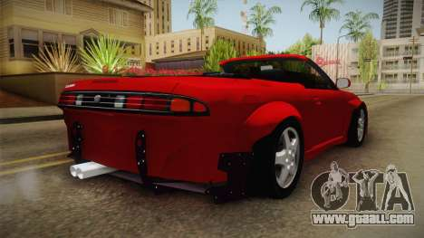 Nissan 200SX Cabrio Tuned for GTA San Andreas back left view
