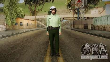 Iranian Cop Biker Skin for GTA San Andreas second screenshot
