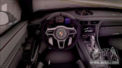Porsche 911 GT2 RS Weissach Package EU Plate for GTA San Andreas inner view