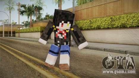 Minecraft Tokiasaki Kurumi Skin for GTA San Andreas