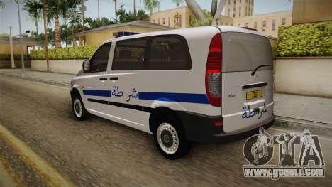 Mercedes-Benz Vito Algerian Police for GTA San Andreas back left view