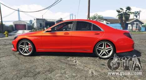 GTA 5 Mercedes-Benz S63 red brake caliper [add-on] left side view