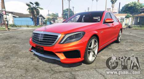 Mercedes-Benz S63 red brake caliper [add-on] for GTA 5
