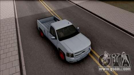 Chevrolet Silverado Single Cab for GTA San Andreas right view