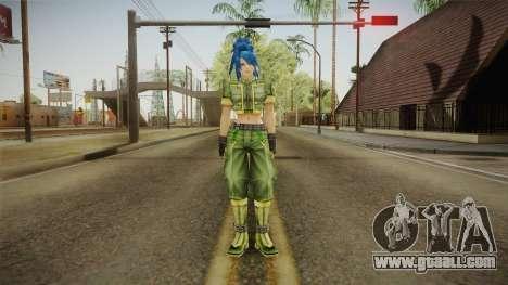 Leona Heidern Skin for GTA San Andreas second screenshot