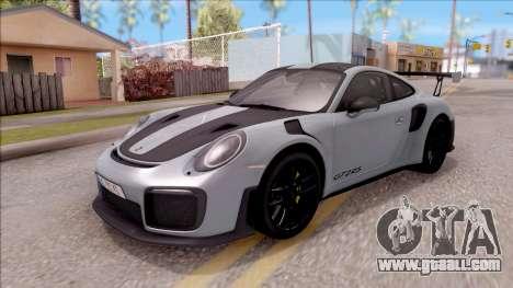 Porsche 911 GT2 RS Weissach Package EU Plate for GTA San Andreas