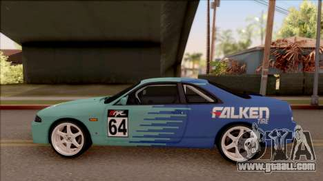 Nissan Skyline R33 Drift Falken for GTA San Andreas left view