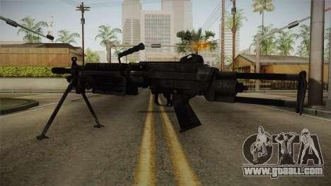 Mirror Edge FN Minimi for GTA San Andreas second screenshot