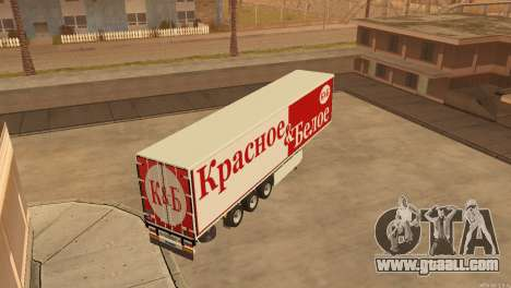 Trailer Red & White for GTA San Andreas right view