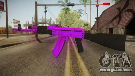Purple AK47 for GTA San Andreas second screenshot