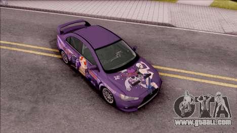 Mitsubishi Lancer Evo X Itasha Nico Robin for GTA San Andreas right view