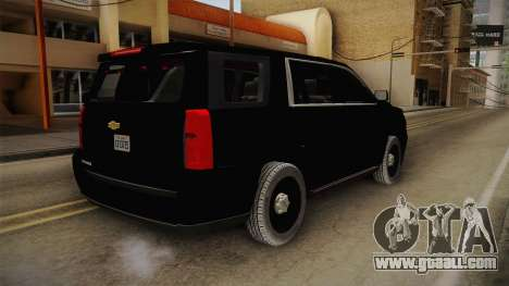 Chevrolet Tahoe 2015 Police for GTA San Andreas back left view