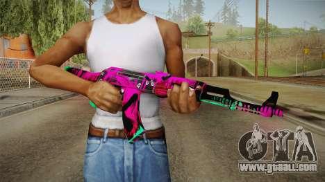 CS: GO AK-47 Neon Revolution Skin for GTA San Andreas third screenshot