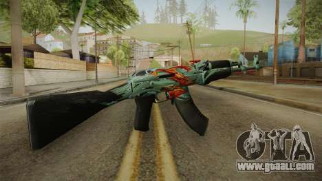 CS: GO AK-47 Aquamarine Revenge Skin for GTA San Andreas second screenshot