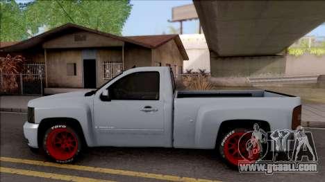 Chevrolet Silverado Single Cab for GTA San Andreas left view