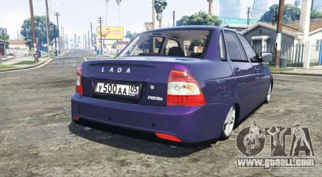 GTA 5 LADA Priora (2170) [replace] rear left side view