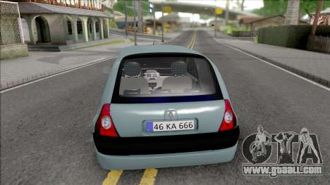 Renault Clio SFD for GTA San Andreas back left view