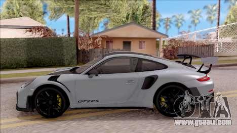 Porsche 911 GT2 RS Weissach Package EU Plate for GTA San Andreas left view