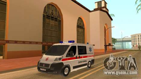 Fiat Ducato Ambulance for GTA San Andreas back left view