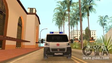 Fiat Ducato Ambulance for GTA San Andreas right view