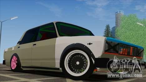 VAZ 2105 Combat Classics Customs for GTA San Andreas back view