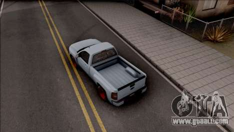 Chevrolet Silverado Single Cab for GTA San Andreas back view
