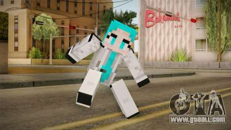 Minecraft Miku Skin for GTA San Andreas