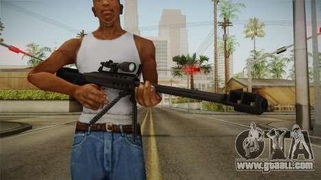 Mirror Edge Barrett M95 for GTA San Andreas third screenshot