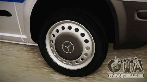 Mercedes-Benz Vito Algerian Police for GTA San Andreas back view
