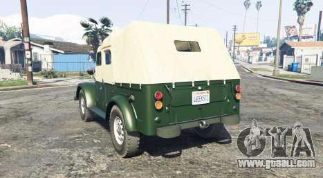 GTA 5 GAZ 69 [add-on] rear left side view
