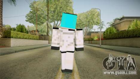 Minecraft Miku Skin for GTA San Andreas third screenshot