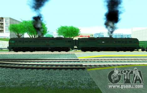 Freight locomotive 2M62 1184 for GTA San Andreas back left view