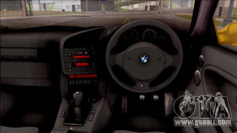 BMW M3 E36 1997 for GTA San Andreas inner view