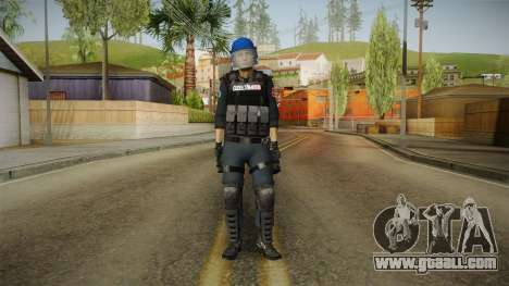 Turkish Police-Rapid Response Unit with Gear for GTA San Andreas second screenshot