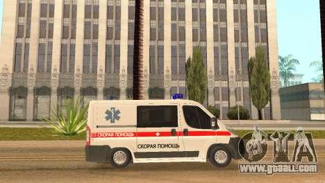 Fiat Ducato Ambulance for GTA San Andreas left view
