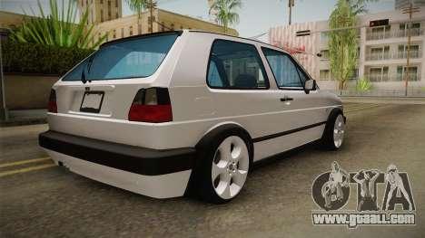 Volkswagen Golf MK2 2.0 TFSI Beta for GTA San Andreas right view