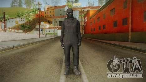 GTA Online: Black Army Skin v2 for GTA San Andreas second screenshot